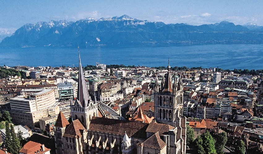 Lausanne in Switzerland which sits on Lake Geneva where much of the ill fated Iran nuclear disastrous negotiations were held and Secretary of State Kerry sold out his country again