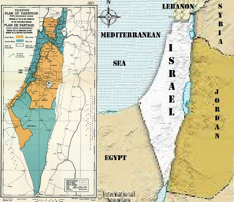 Left UN Partition Plan Resolution 181 Rejected by Arabs Making Original British Partition Arab and Jewish Lands as Only Standing Agreement Supported in 1921 Arab League and Zionist Congress Backed by British Crown as Valid