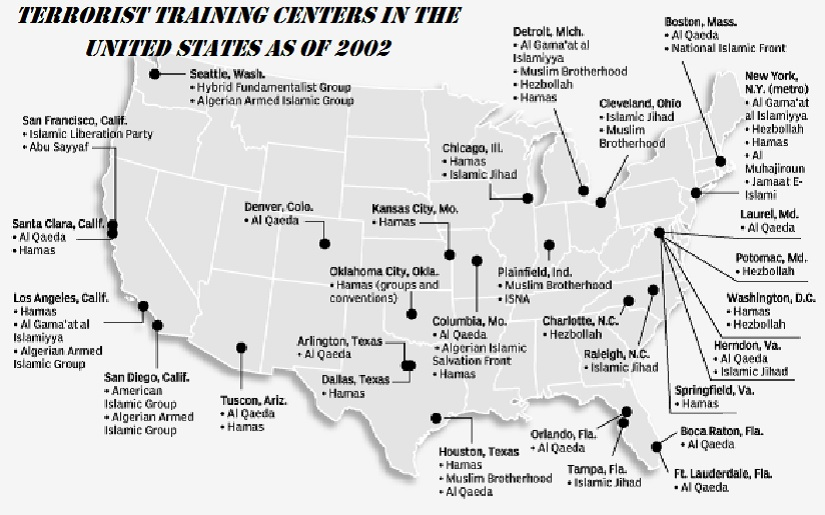 Terrorist Training Centers in the United States as of 2002. Just Imagine How Many and Where They Are Now and How Many We Do Not Even Know of That Exist in the Middle of Nowhere?