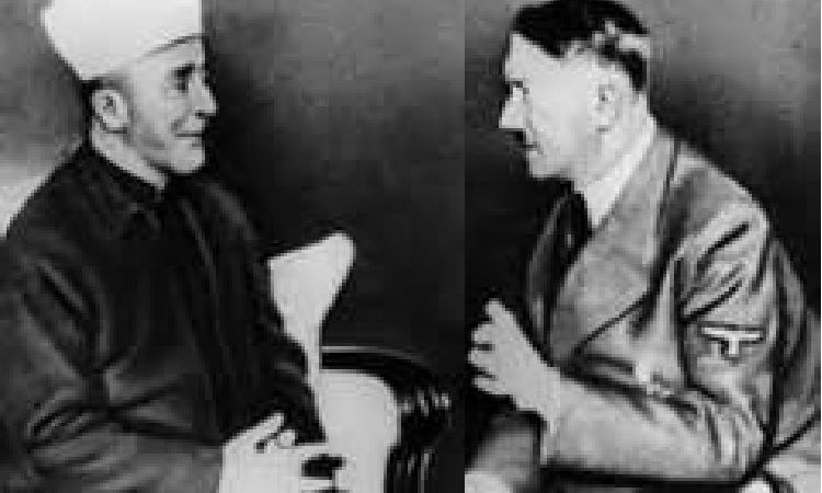 Mufti of Jerusalem Haj Amin al-Husseini in His One of Many Personal Meetings with the Führer Adolf Hitler