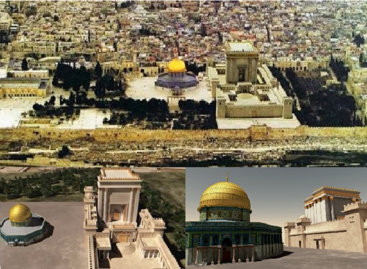 Temple Mount with Proposed Options to include Third Temple Without Destroying or Interfering Other Religious Structures