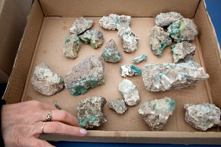 Fragments of glass discovered at the site Photo: Assaf Peretz, courtesy of Israel Antiquities Authority.
