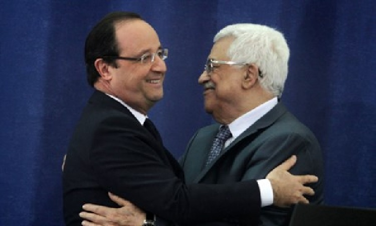 French President Francois Hollande and PA Chairman Mahmoud Abbas