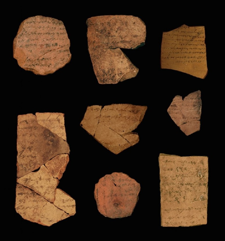 Inscriptions in ancient Hebrew dating back 2,500 years discovered near Arad. (Tel Aviv University/Michael Kordonsky, Israel Antiquities Authority)