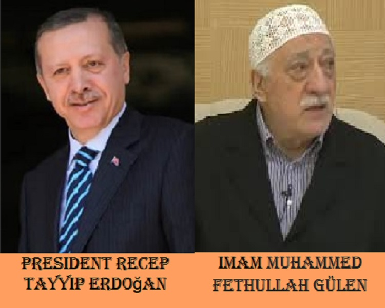 President Recep Tayyip Erdogan and Accused Coup Leader Imam Muhammd Fethullah Gulen