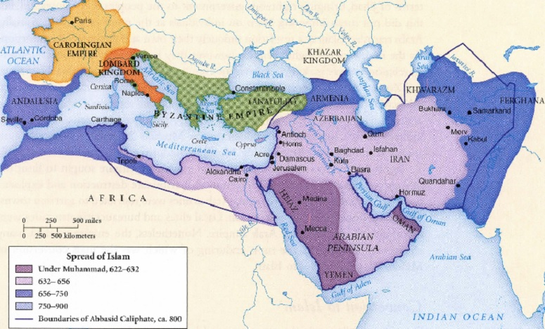 Spread of Islam Across North Africa And Into the Iberian Peninsula