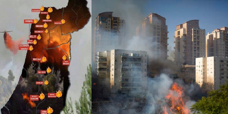 """Fire Intifada"" Israeli Forest Fires Threatening Towns, Cities and Communities"