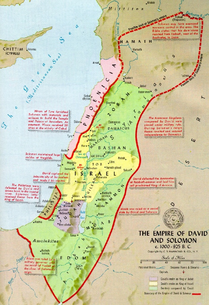 Empire of Kings David and Solomon including the Philistines and Phoenicians
