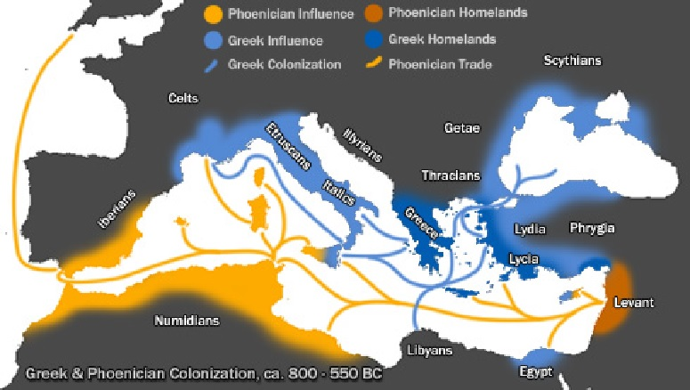 Greek and Phoenician Civilizations 800 to 550 BCE