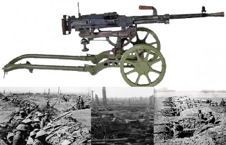 Maxim Machinegun Trenches and No Man's Land