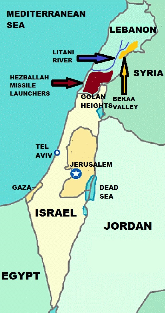 Map of Hezballah Military Emplacements