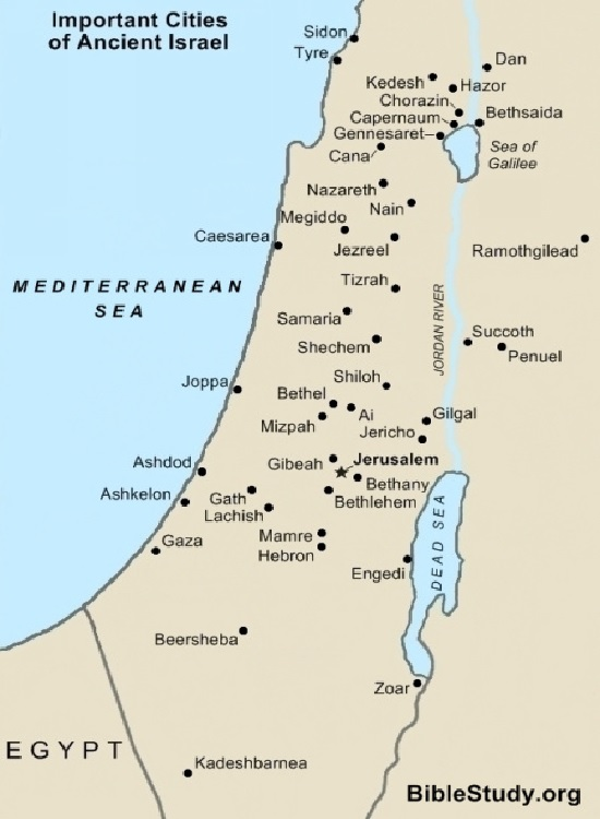 Important Cities of Ancient Israel