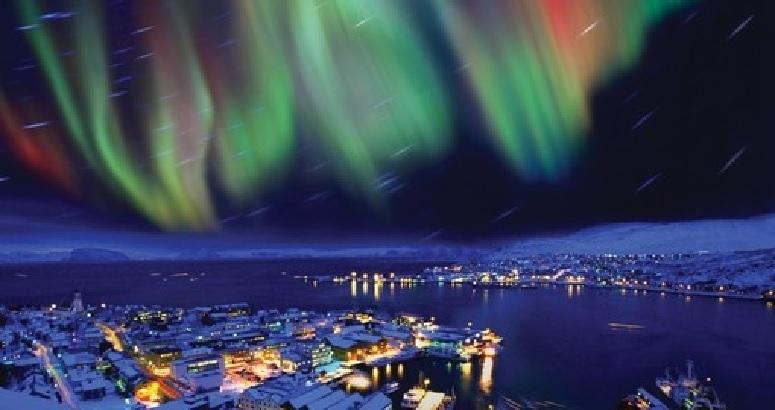 Aurora Borealis Over Reykjavík, Iceland