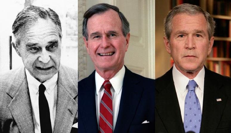 Prescott Bush, George H W Bush, George W Bush