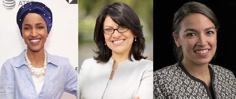 Rashida Tlaib, Ilhan Omar and Alexandria Ocasio-Cortez